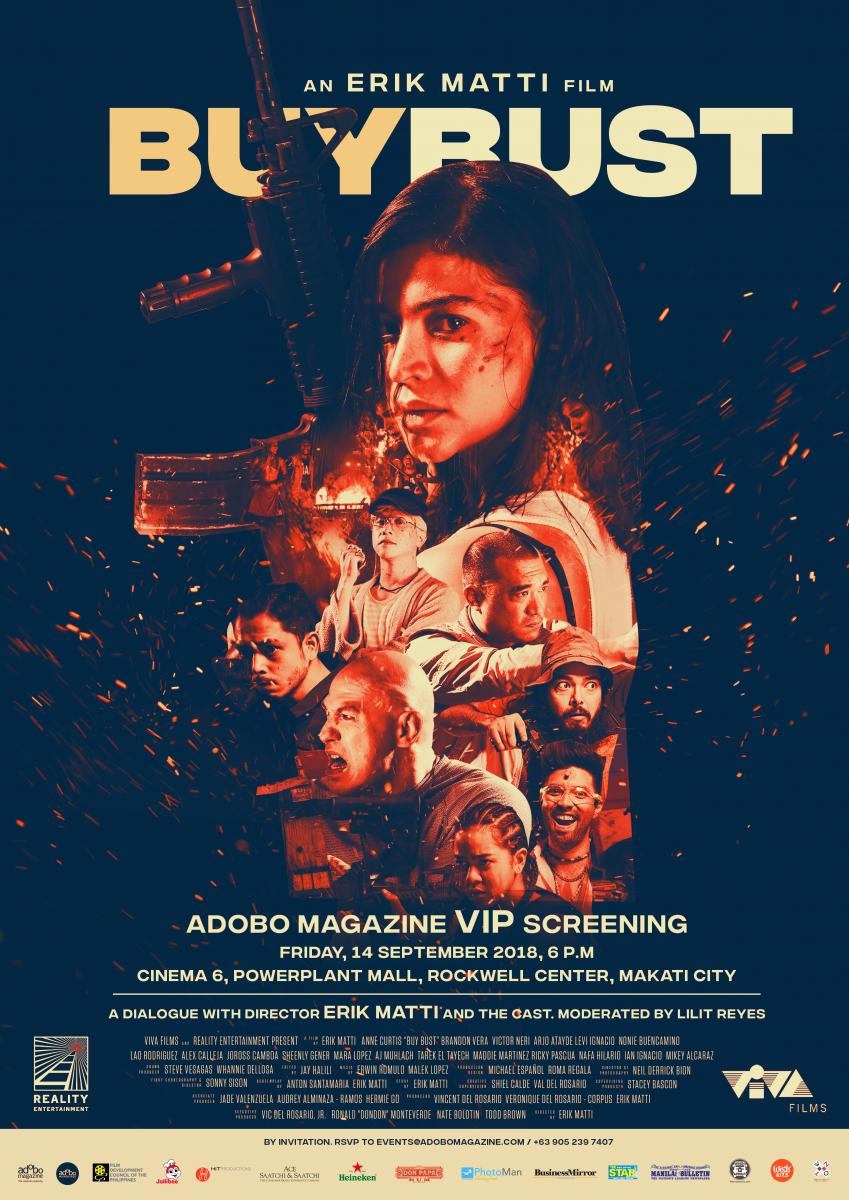 adobo Main Course: VIP screening of the action thriller film BuyBust