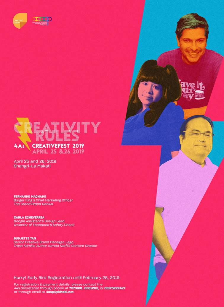 Creativefest 2019: Creativity Rules at this Year's 4As Philippines